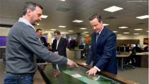 David Cameron at ThinkBDW's offices